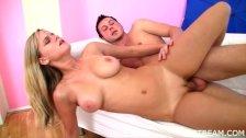 Busty teen meets huge dick porn video