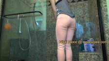 Nikki Nexxt real female desperation and wetting herself jeans