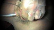 shemale tranny sounding urethral toy dildo lingerie nylon
