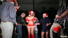 Christmas gangbang 8 old dicks fuck young busty Julie Skyhigh