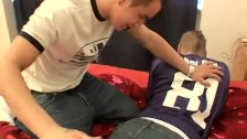 Latest spanking from dad for young male and