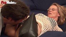 Horny Mature pegging Granny Xmas