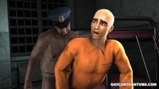 3D prisoner fucked by a black cop