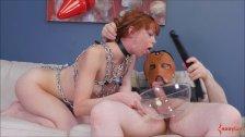Skinny Redhead Slave Alexa Nova Face Fucked