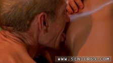 Old and young lesbian licking and old young