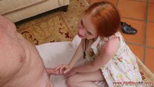 Teen lesbian foot fuck and she finishes