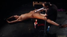 Slutty red ass bondage punishment in sexual submission for teen slut