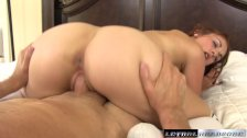 Mackenzie gets plowed by huge dick for her first time