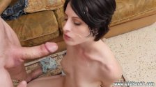 Teen does dad xxx Frankie goes down the