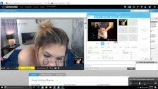 Hot teen loves big dick on webcam -