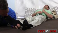 Free gay feet fetish clips Hunter Page &