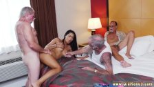Cougar bbc blowjob Staycation with a Latin