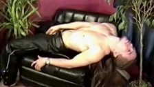 Josh with his leather pants