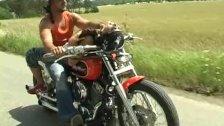 Motorbike Couple doing it outdoors