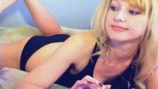 Blond cutie using dildo