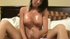 Oily Tiffany Preston makes hot handjob
