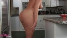 Horny housemaid doing dildo and guy