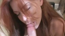 Redhead sucks and gets shagged
