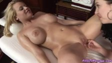 Oily chick gets pleased
