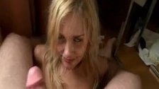 Drunk blonde chick sucking dick