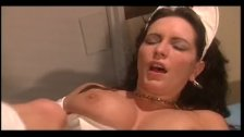 Hot nurse finishes her patient