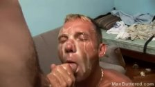 Huge cum dumping on his face
