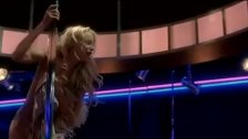 Daryl Hannah dancing on stage
