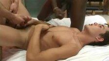 Latino threesome hardcore anal fucking