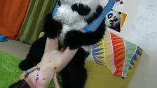 Sexy and fun panda fucks babe