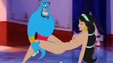 Genie forcing his big dick in Jasmine's assh