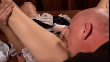 Licking Madison Sins hairy pussy
