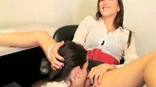 Lesbian secretaries having fun