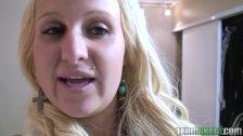 ShesNew Blonde teen girlfriend homemade POV