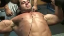 Big cock muscle jerk off