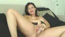 Big Rack Horny Babe Rides a Dildo HD