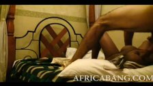 : Sexy African whore stuffed in hotel room