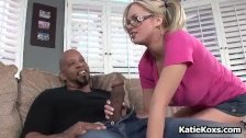 Blonde pornstar with big tits loves BBC