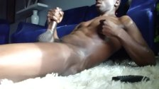 Big black cock wanking
