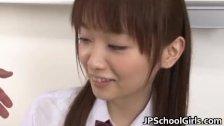 An Nanairo Asian Schoolgirl Having her
