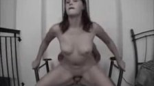 Cute amateur GF sucks and fucks on chair