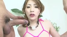 Yuu has a blast having her ass and pussy pounding