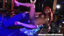 Ebony stripper gets some rough anal