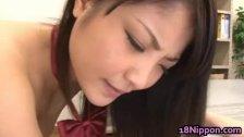 Asian schoolgirl shows off
