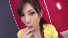 : Sweet Kana Miuras mouthful of jizz