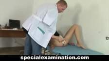 Special gyno exam for sweet teen babe