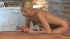 Horny Blonde has squirting good time with guy