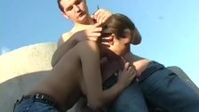 pick up brunette and fuck public