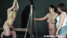Lesbian spanking and extreme bondage