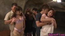 Asian babes at erotic broadcasts
