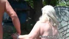 72 year old granny gives a blowjob